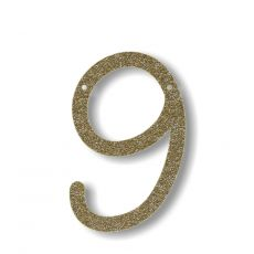 Gagliardetto Acrilico Gold Glitter 9