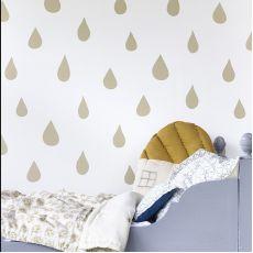 Gold Raindrops Wallpaper