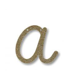 Gold Glitter A Acrylic Bunting from Meri Meri :: Baby Bottega