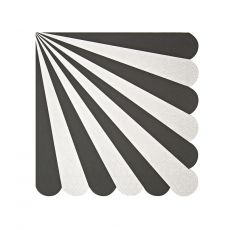 Toot Sweet Black Stripe Small Napkin