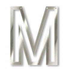Silver M Acrylic Bunting from Meri Meri :: Baby Bottega