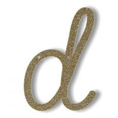 Gagliardetto Acrilico Gold Glitter D