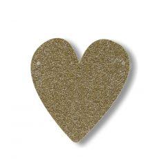 Gagliardetto Acrilico Gold Glitter Cuore