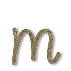 Gagliardetto Acrilico Gold Glitter M