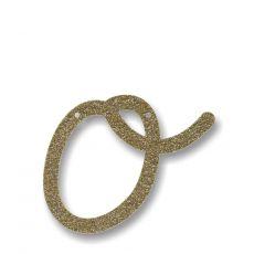Gagliardetto Acrilico Gold Glitter O