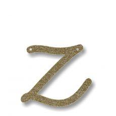 Gagliardetto Acrilico Gold Glitter Z