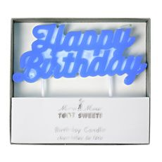 Blue Happy Birthday Candle from Meri Meri :: Baby Bottega