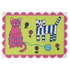 Cats Play Rug