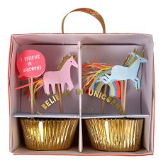 I Believe in Unicorns Cupcake Kit :: Meri Meri