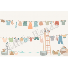 Murale Carta da Parati Hanging Clothes