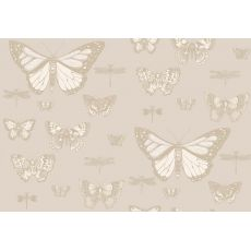 Carta da Parati Butterflies & Dragonflies Shades of Beige
