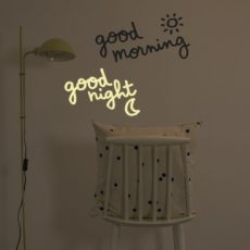 Good Morning, Good Night Wall Sticker Blue