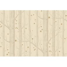 Woods & Stars Wallpaper Natural/Gold