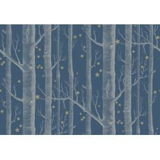 Woods & Stars Wallpaper Midnight Blue