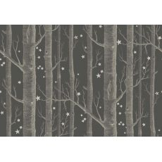 Woods & Stars Wallpaper Inky Black