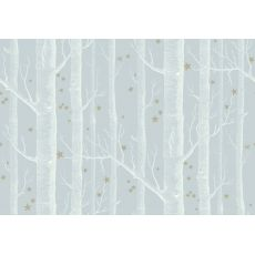 Woods & Stars Wallpaper Grey