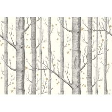 Woods & Stars Wallpaper White/Gold