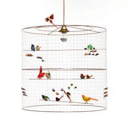 lampadario uccellini grand voliere baby bottega firenze
