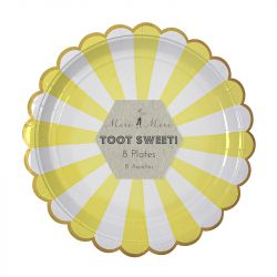 Toot Sweet Yellow Stripe Large Plates