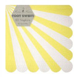 Toot Sweet Yellow Stripe Large Napkins