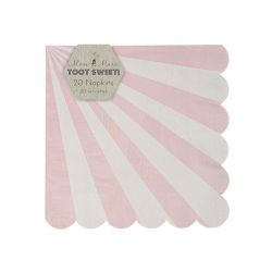 Dusty Pink Striped Small Napkins