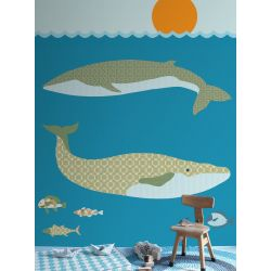 Wallpaper Mural Whales