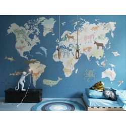 Wallpaper Mural World Map Large