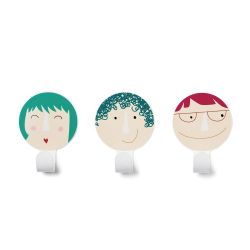 Set of 3 Faces Hangers 2
