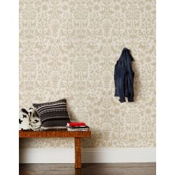 Otomi Taupe Wallpaper