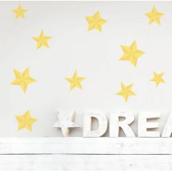 Yellow Star Wall Stickers