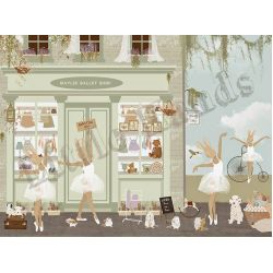 Ballet Shop 2 Wallpaper Mural