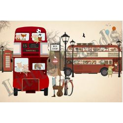 One Day in London Wallpaper Mural