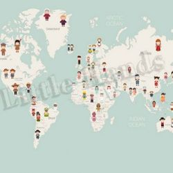 United Nations World Map Wallpaper Mural