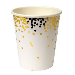 Gold Confetti Cups from Meri Meri :: Parties for Kids & Adults :: Baby Bottega