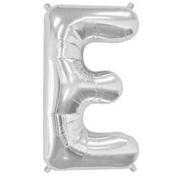 Silver Foil Letter E Balloon