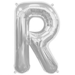 Silver Foil Letter R Balloon