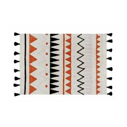 Tappeto Lavabile Piccolo Azteca Natural - Terracota