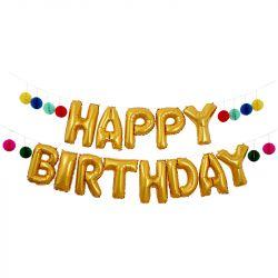 Kit Ghirlanda Palloncini Happy Birthday