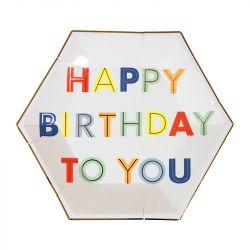 Happy Birthday Small Plates from Meri Meri :: Baby Bottega