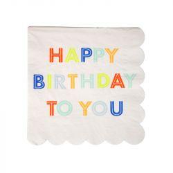 Happy Birthday Small Napkins from Meri Meri :: Baby Bottega