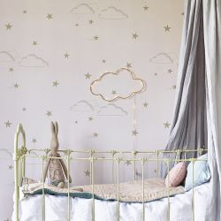 Starry Sky Wallpaper Pale Rose/Gold
