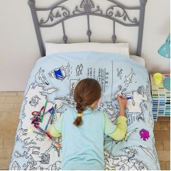 Piumone da decorare Mappa del Mondo di Eat, Sleep, Doodle :: acquista ora su Baby Bottega
