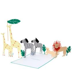 Safari Baby Concertina Card from Meri Meri :: Buy at Baby Bottega