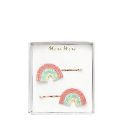 Glitter Rainbow Hair Slides from Meri Meri :: Baby Bottega