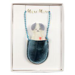 Dog Pocket Necklace from Meri Meri