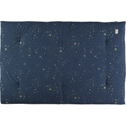 Eden Futon, color Gold Stella blue from Nobodinoz :: Available at Design Bottega