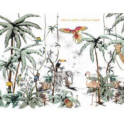 Jungle Color Mural 330 X 260cm from Annet Weelink :: Baby Bottega