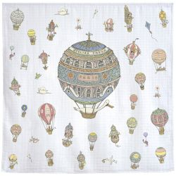 Les Montgolfieres Carré baby blanket from Atelier Choux :: Baby Bottega