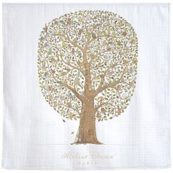 Tree of Life Carré baby blanket from Atelier Choux :: Baby Bottega