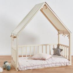 Lettino Casetta Montessori 140 X 70cm da 'ettomio :: Baby Bottega